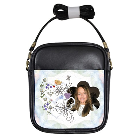 Floral Nature Girls Sling Bag By Lil    Girls Sling Bag   E0wk2gfhoed6   Www Artscow Com Front