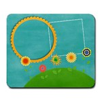 Flowers & Sun mousepad - Large Mousepad