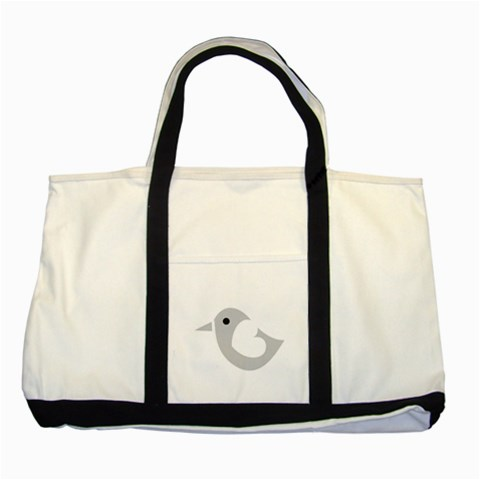 Bird By Wood Johnson   Two Tone Tote Bag   Fbdabiqersvt   Www Artscow Com Front