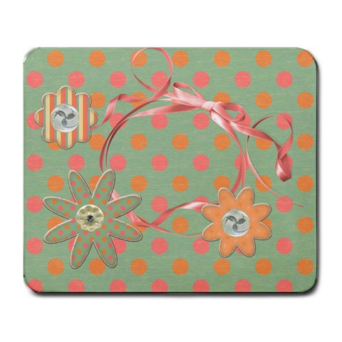 Flower Mousepad By Mikki   Large Mousepad   Cj8ew04193rv   Www Artscow Com Front