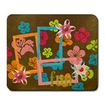 Fun & Flowers mousepad - Large Mousepad