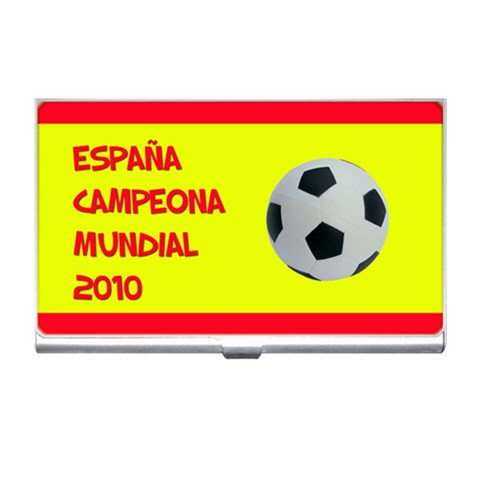 España Campeona Mundial   Business Card Holder By Carmensita   Business Card Holder   Tnrpg4z4x4i3   Www Artscow Com Front
