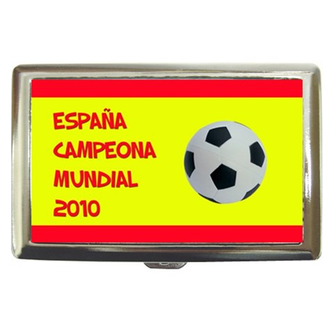 España Campeona Mundial   Cigarette Money Case By Carmensita   Cigarette Money Case   2343hm87gazq   Www Artscow Com Front