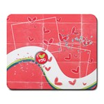I love you mousepad - Large Mousepad