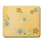 Orange flowers mousepad - Large Mousepad