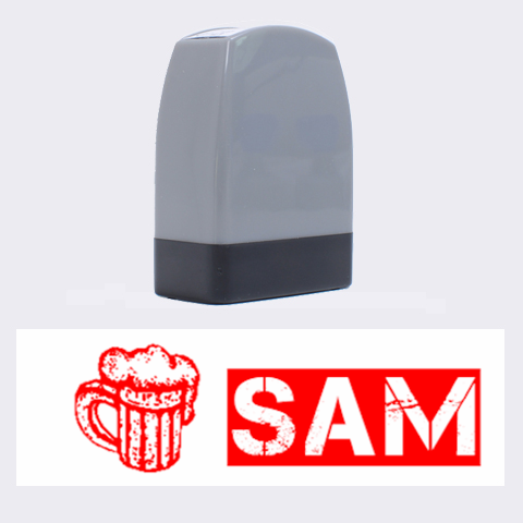 Beer Sam   Rubber Stamp By Carmensita   Name Stamp   81tztpda7fkx   Www Artscow Com 1.4 x0.5  Stamp