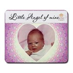 Little Angel Of Mine Pink Mousepad - Large Mousepad