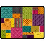 Bright Patterns XL Fleece Blanket Collage - Fleece Blanket (Large)