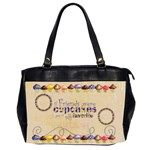 chocolate Cupcakes friends  oversized handbag - Oversize Office Handbag (2 Sides)