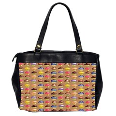 Chocolate Cupcakes Friends  Oversized Handbag By Catvinnat   Oversize Office Handbag (2 Sides)   8sokhoh14n4v   Www Artscow Com Back