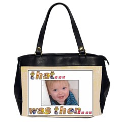 That Was Then     This Is Now! Oversize Bag 2 By Catvinnat   Oversize Office Handbag (2 Sides)   Amsxu4djysfn   Www Artscow Com Front