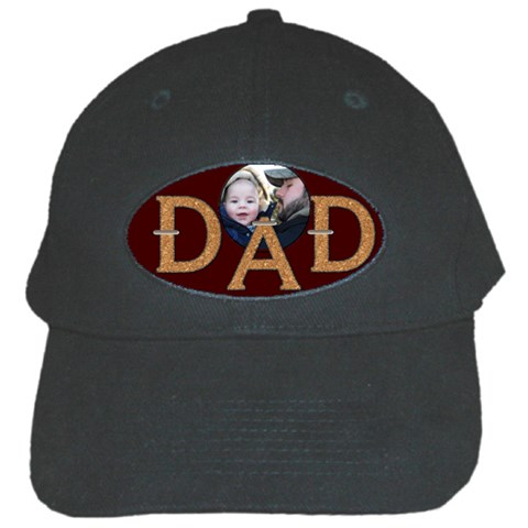 Dad Baseball Cap By Lil    Black Cap   Qvp139h2j86t   Www Artscow Com Front