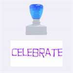 celebrate rubber stamp - Rubber Stamp (Medium)