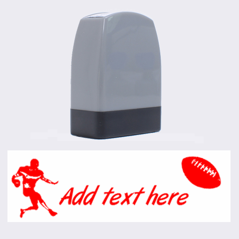 Football 1 By Snackpackgu   Name Stamp   Pl2hi57x57he   Www Artscow Com 1.4 x0.5  Stamp