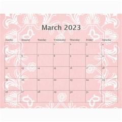 Art Nouveau Red Or Dead Calendar 2015 By Catvinnat   Wall Calendar 11  X 8 5  (12 Months)   Tket375xooc8   Www Artscow Com Mar 2015
