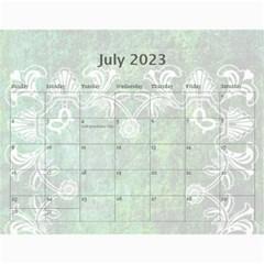Art Nouveau Green Dream Calendar 2015 By Catvinnat   Wall Calendar 11  X 8 5  (12 Months)   8ymmjxhjru9l   Www Artscow Com Jul 2015