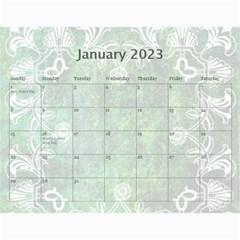 Art Nouveau Green Dream Calendar 2019 By Catvinnat   Wall Calendar 11  X 8 5  (12 Months)   8ymmjxhjru9l   Www Artscow Com Jan 2019