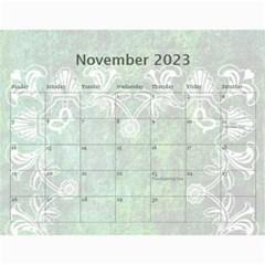 Art Nouveau Green Dream Calendar 2015 By Catvinnat   Wall Calendar 11  X 8 5  (12 Months)   8ymmjxhjru9l   Www Artscow Com Nov 2015
