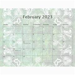 Art Nouveau Green Dream Calendar 2015 By Catvinnat   Wall Calendar 11  X 8 5  (12 Months)   8ymmjxhjru9l   Www Artscow Com Feb 2015