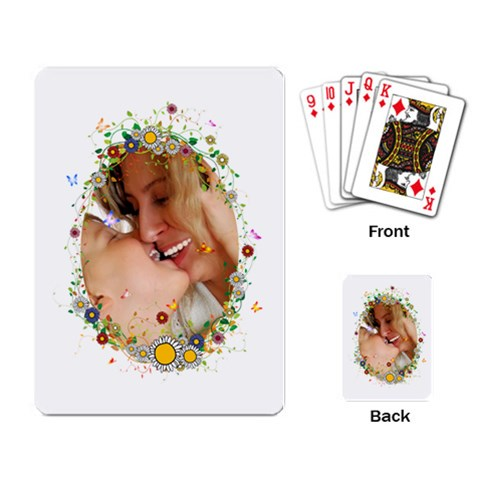 Flower Kids By Wood Johnson   Playing Cards Single Design   3ubky3tbipqe   Www Artscow Com Back