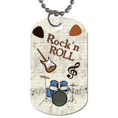 Rock & Roll Dog Tag By Lmw   Dog Tag (two Sides)   5sp2ul5zy7nk   Www Artscow Com Back