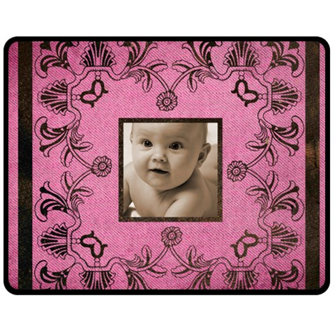 Art Nouveau Pink Medium Fleece By Catvinnat   Fleece Blanket (medium)   Nwd6ftfq9p7u   Www Artscow Com 60 x50 Blanket Front