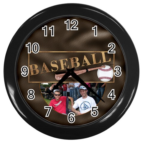 Baseball Wall Clock By Lil    Wall Clock (black)   Iplgorbkz2za   Www Artscow Com Front