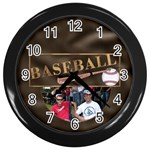 Baseball Wall Clock - Wall Clock (Black)