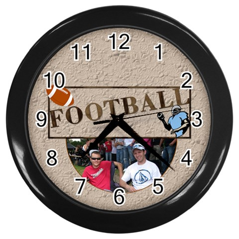 Football Wall Clock By Lil    Wall Clock (black)   2ocl95qmsraw   Www Artscow Com Front