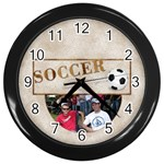 Soccer Wall Clock - Wall Clock (Black)