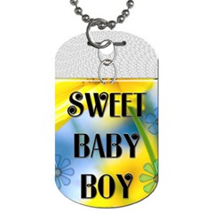Sweet Baby Boy Dog Tag By Lil    Dog Tag (two Sides)   2jvyzs4pq6jg   Www Artscow Com Front