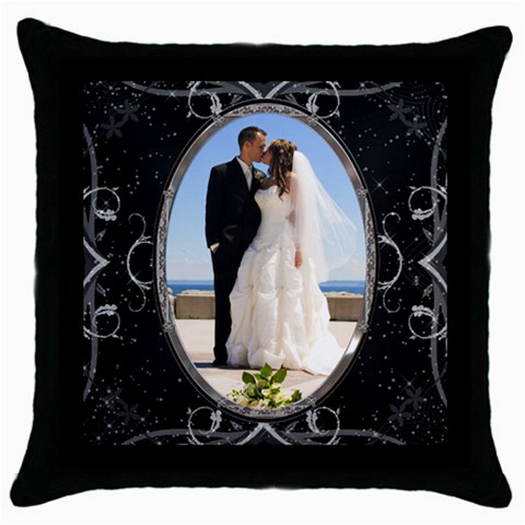 Black Beautiful Pillow By Lil    Throw Pillow Case (black)   1cv3rbjbnc8r   Www Artscow Com Front