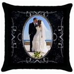 Black Beautiful Pillow - Throw Pillow Case (Black)