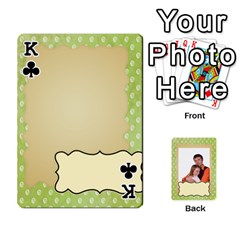 King 52 Design Card By Wood Johnson   Playing Cards 54 Designs (rectangle)   Cap9vht8f6bt   Www Artscow Com Front - ClubK
