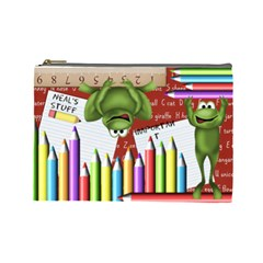Neal s Pencil Bag By Debra Macv   Cosmetic Bag (large)   Grn9ogungdav   Www Artscow Com Front