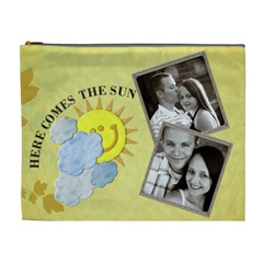 Here Comes The Sun Xl Cosmetic Bag By Lil    Cosmetic Bag (xl)   30f6h0x2baug   Www Artscow Com Front