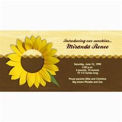 Sunflower Photo Card By Mikki   4  X 8  Photo Cards   Dab1j675sji2   Www Artscow Com 8 x4 Photo Card - 10