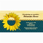 Sunflower Photo Card2 - 4  x 8  Photo Cards