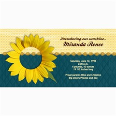 Sunflower Photo Card2 By Mikki   4  X 8  Photo Cards   Fcwxkfn19n06   Www Artscow Com 8 x4 Photo Card - 2