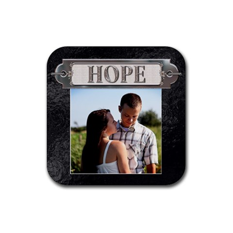 Hope Coaster By Lil    Rubber Coaster (square)   M8reoowb1o56   Www Artscow Com Front