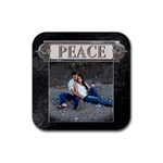 Peace Coaster - Rubber Coaster (Square)
