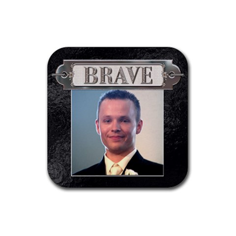 Brave Coaster By Lil    Rubber Coaster (square)   Zgy8td0c3ld9   Www Artscow Com Front