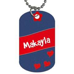 Makayla By Barb Smith   Dog Tag (two Sides)   Yl49bwaidume   Www Artscow Com Front