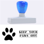 Stamp -XL Paws Off - Rubber Address Stamp (XL)