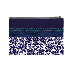Blue  Cosmetic Bag By Florence Yeung   Cosmetic Bag (large)   Quim56fims5f   Www Artscow Com Back