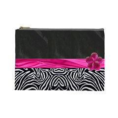 Zebra Print  Cosmetic Bag By Florence Yeung   Cosmetic Bag (large)   2rcwd1a1dmv1   Www Artscow Com Front