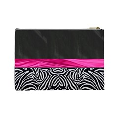 Zebra Print  Cosmetic Bag By Florence Yeung   Cosmetic Bag (large)   2rcwd1a1dmv1   Www Artscow Com Back