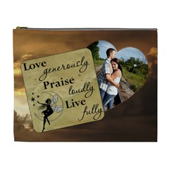 Love Generously Xl Cosmetic Bag By Lil    Cosmetic Bag (xl)   67e0bt51dqks   Www Artscow Com Front
