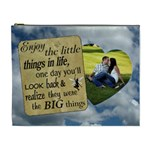 Enjoy The Little Things XL Cosmetic Bag - Cosmetic Bag (XL)