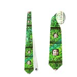Art Nouveau eden scrolls double sided tie - Necktie (Two Side)